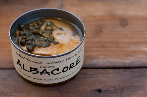 If you guessed that there would be real capers in the can with the tuna, you'd be right! So beautiful!