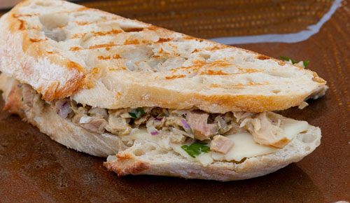 Tuna and Havarti Melt on Sourdough bread... it only takes just a few minutes to make a sandwich this tasty